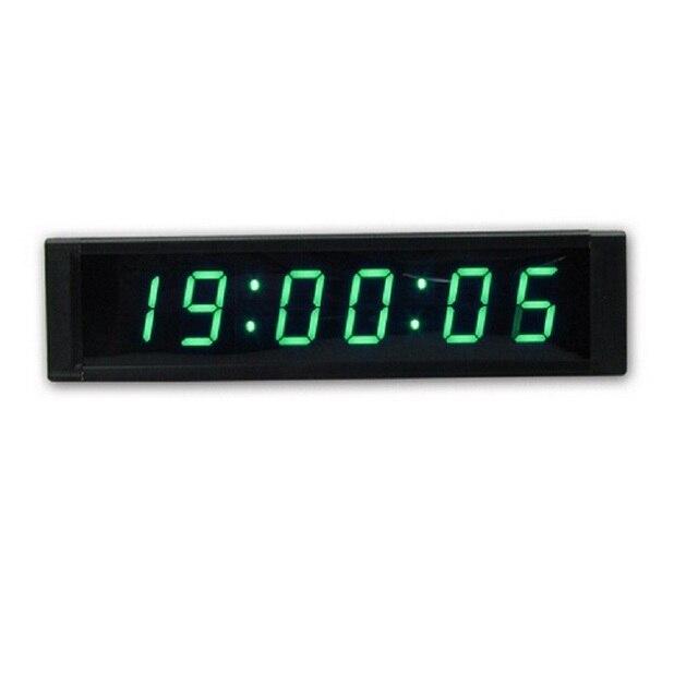 Vert LED Compte À Rebours Horloge 1 \'\'6 Chiffres LED Numérique ...