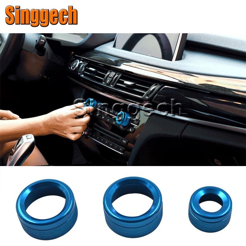 Car Interior 3Pcs/Lot <font><b>Air</b></font> Conditioning Decorative Circle Knobs Cover For <font><b>BMW</b></font> X1 E84 <font><b>2011</b></font> <font><b>2012</b></font> <font><b>2013</b></font> 2014 2015 Accessories