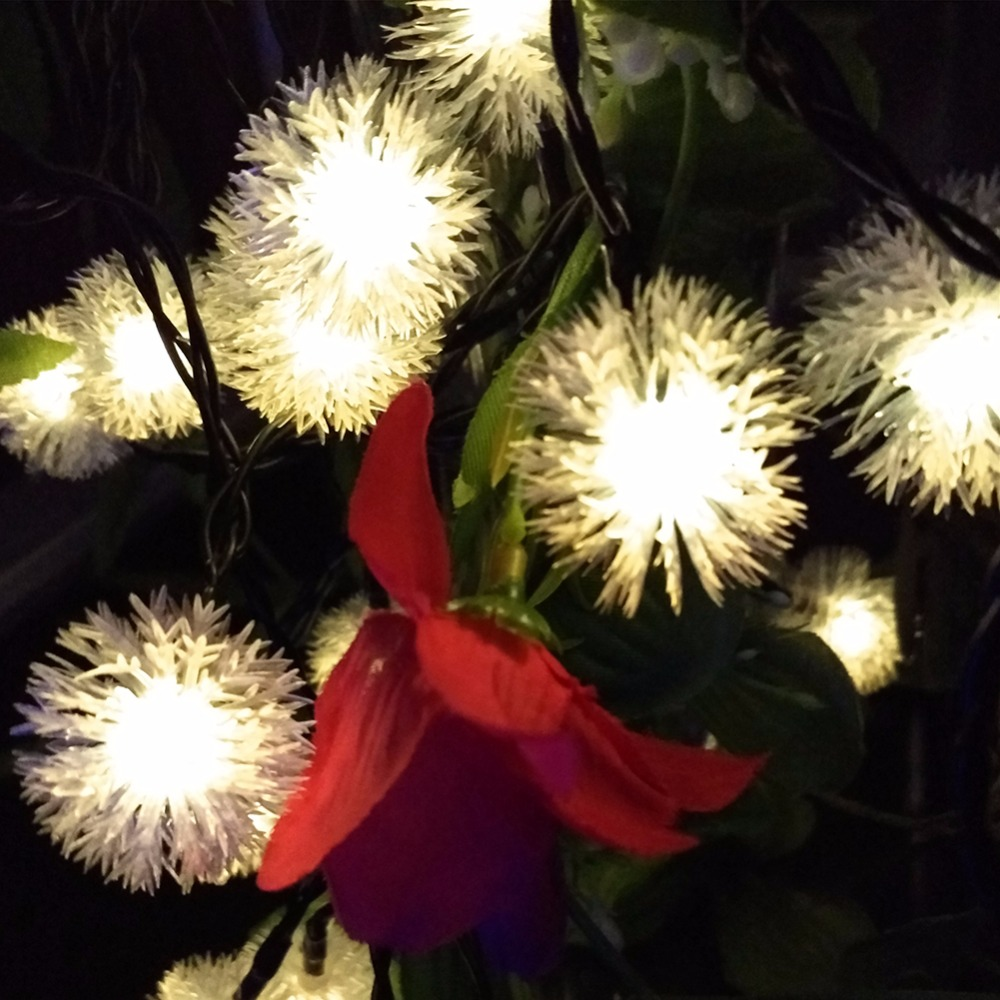7m solar christmas holiday snow flakes led string lights for 57in led lighted peacock outdoor christmas decoration