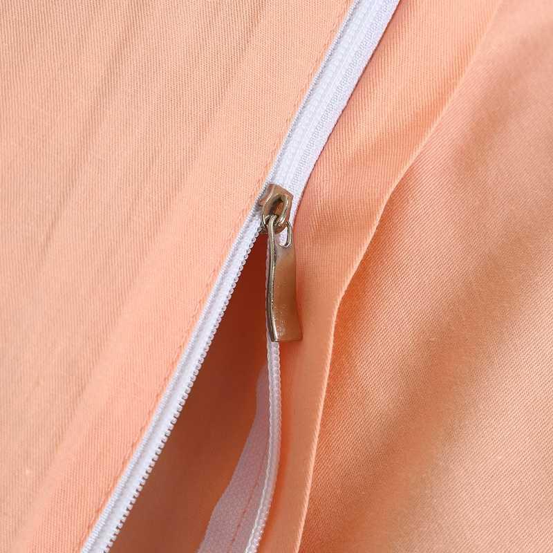1 Pcs 100% di Copertura del cotone Duvet copertura della trapunta di colore solido Singola Doppia Queen Re consolatore Biancheria Da Letto di copertura di trasporto libero