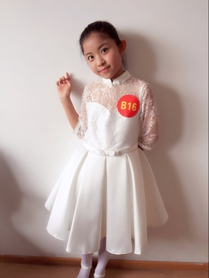 HTB1 W7bmPihSKJjy0Fiq6AuiFXaz - Baby Girl Kid Evening Party Dresses For Girl Wedding Princess Clothing 2017 New Solid Color Bow Moderator Dress Children Clothes
