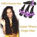 Miss Lula Hair Virgin Peruvian Loose Wave 4bundle Unprocessed Puruvian Hair Bundles Modern Show Hair Julia Virgin Hair Extension
