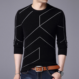 Image 3 - 2020 New Autumn Winter Fashion Brand Clothing Pullover Mens Sweaters O Neck Slim Fit Breathable Solid Color Sweaters For Men