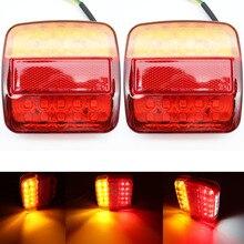 2 шт. 12V грузовик с прицепом караван 26LED хвост светильник указатель поворота Стоп лампы подсветки номерного знака светильник заднего хода