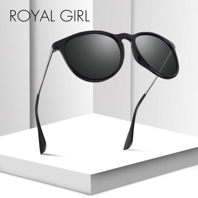 c35d2fd339 ROYAL GIRL Polarized Oval Sunglasses Women Men 2019 Brand Designer Black  Pink Eyewear Metal Frame Sun Glasses Female UV400 ms026