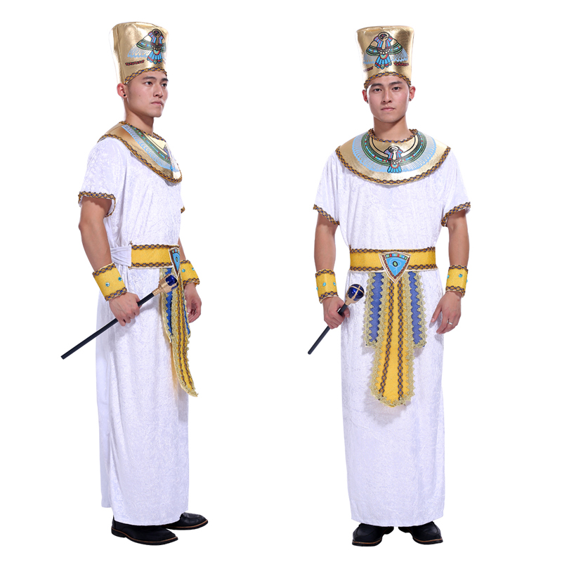Halloween costume adult male stage performance clothing cos Egyptian king Pharaoh king costume masquerade costume