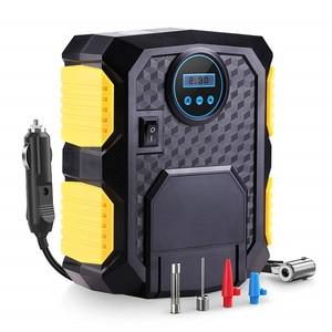 Image 1 - מכונית צמיג Inflator דיגיטלי אוויר מדחס נייד 12V חשמלי משאבת צמיג אינפלציה עבור מכונית אופנוע