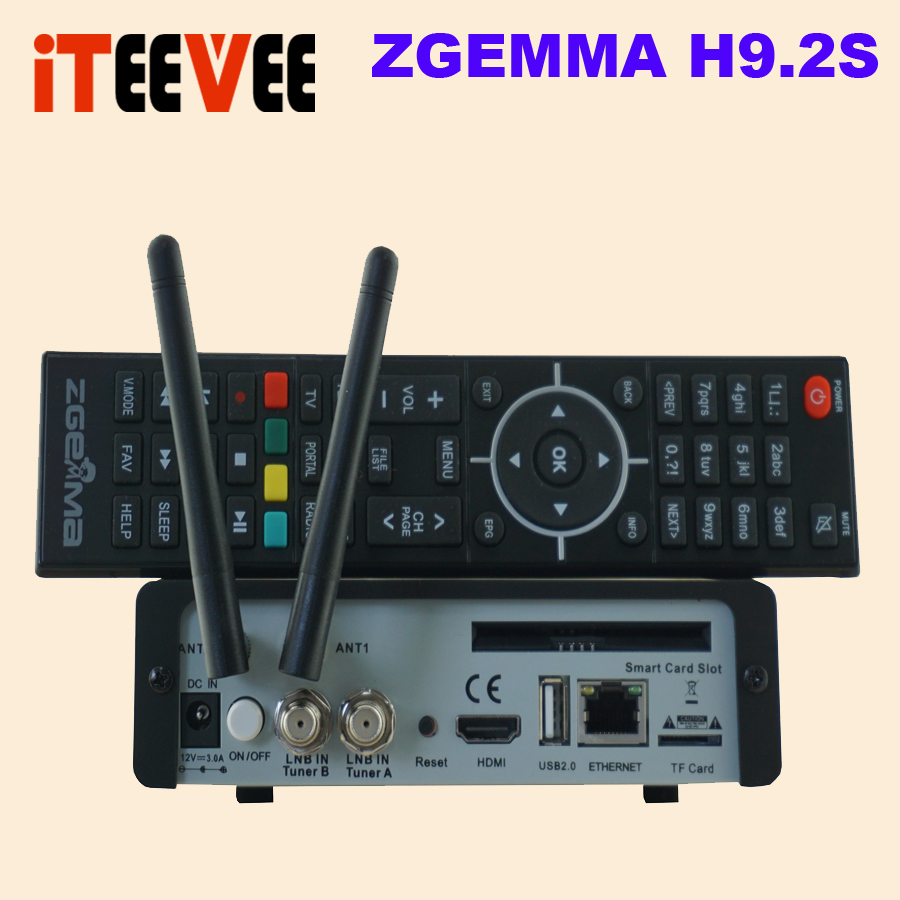 New 4K satellite tv receiver Engima2 zgemma h9 2s twin dvb s2x muli stream iptv stalker