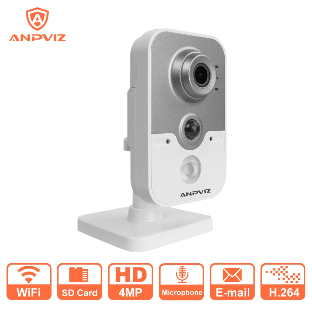 Anpviz Wireless IP Camera 1080P DS 2CD3442F IW 4MP Indoor IR Cube WiFi Home Security Camera