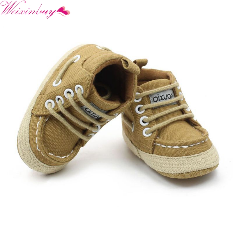 Toddler Baby First Walkers Cotton Canvas Shoes Infant Sneaker Soft Bottom Bebe Crib Baby Moccasins Shoes
