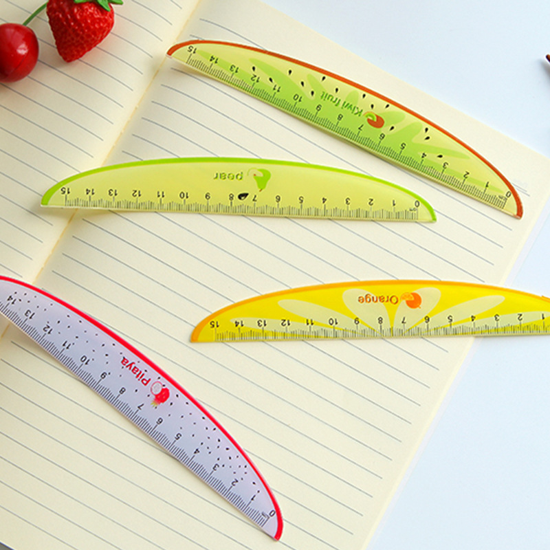 Free Ship!1lot=30pc!Lovely Fruit Styling Ruler /15cm Scale / Student Cartoon Plastic Ruler/creative Stationery
