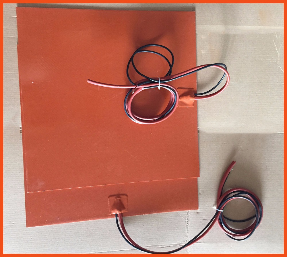 Silicone riscaldatore coperta 380x380mm 220/380 v 1500w 3d stampante silicone heated bed electric heater moldes de silicone pad 24v 150w 50x250mm silicone heater pad car fuel filter diesel heater 65 deg c with thermostat moldes de silicone electric heating