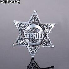 Купить с кэшбэком WesBuck Brand Sheriff Star American Flag Meltal Cool Belt Buckls For Men's Belt Buckles Western Cowboy Cowgirl Boucle Ceinture