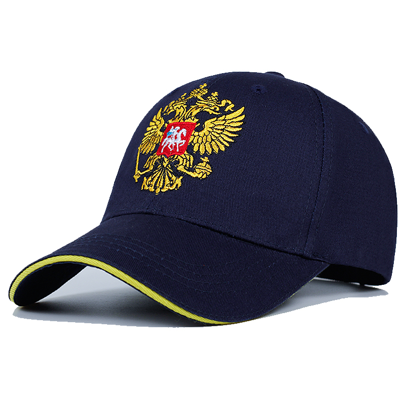 New Neutral Cotton Outdoor Baseball Cap Russia Badge Embroidery Snapback Fashion Sports Hat Men And Women With Patriot Hat Bone