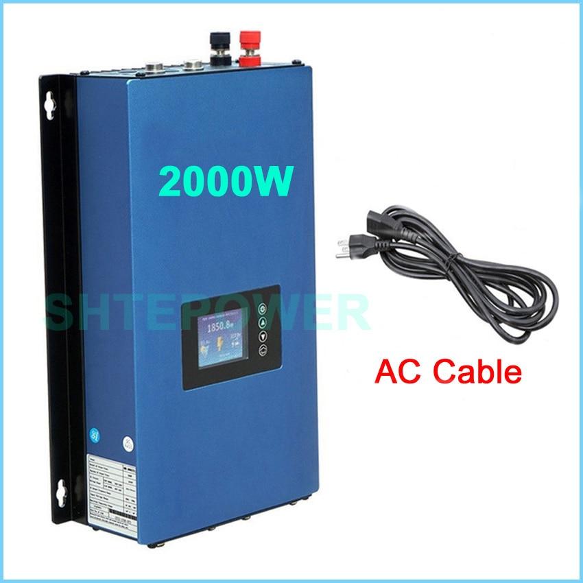 Solar 2KW Grid Tie Inverter with Limiter sensor function 2000w MPPT Invertor DC 45-90v to AC 220v 230v including wifi plug