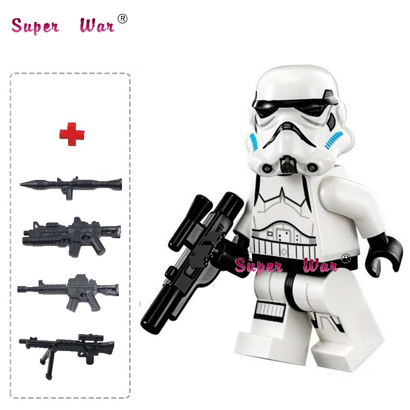 1PCS star wars superhero Stormtrooper Storm trooper building blocks action sets model bricks font b toys