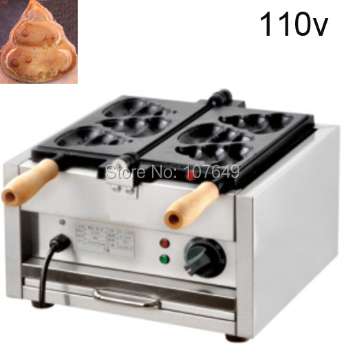 to USA/Canada/Japan/Mexico Commercial Use Electric 110v Poo Pancake Maker Iron Machine Baker
