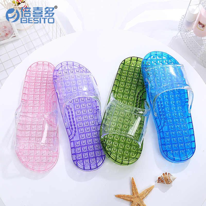 Con fori bagno IN PVC pantofole per Gli Amanti, pistoni di Massaggio di salute di cura di pantofole, di plastica della gelatina delle donne di sesso maschile antiscivolo scarpe indoor