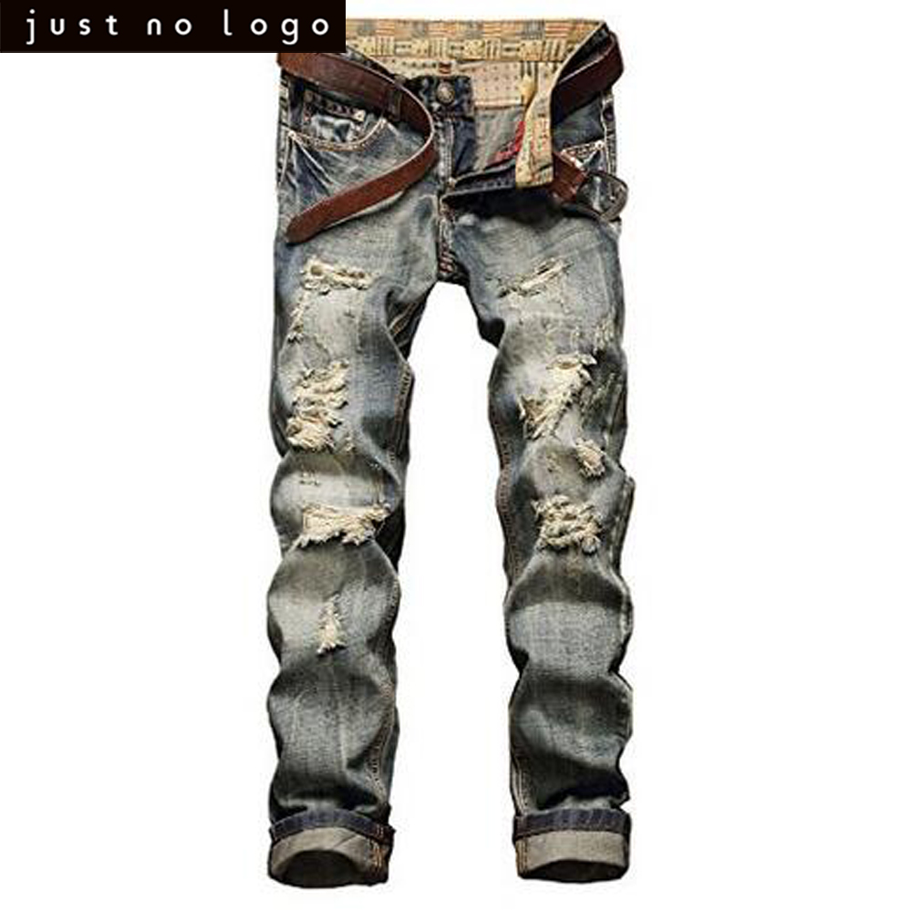 cheap vintage destroyed ripped jeans for mens distressed