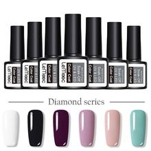 LEMOOC 8ml Purple Grey Nail Gel Polish 229 Pure Nail Colors Soak Off UV LED Gel Varnish Long Lasting Nail Art Lacquer