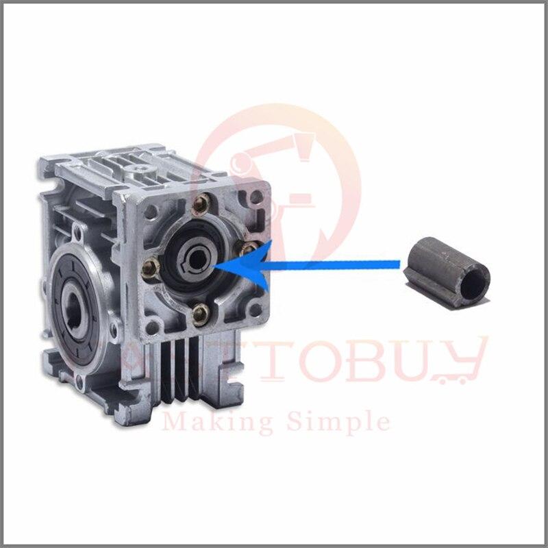 1pc Worm Gear Reducer Shaft Sleeve 6.35 mm Shaft Stepper Motor to 11mm Bore U