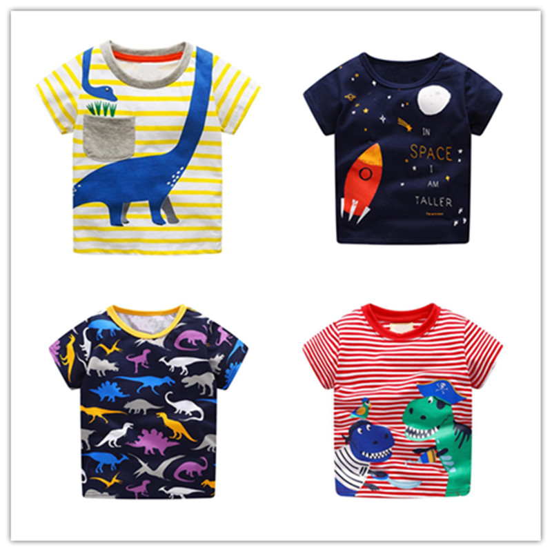 T-Shirts Tops Tees Clothing Short-Sleeve Girls Baby-Boys Striped Cotton Children's Summer
