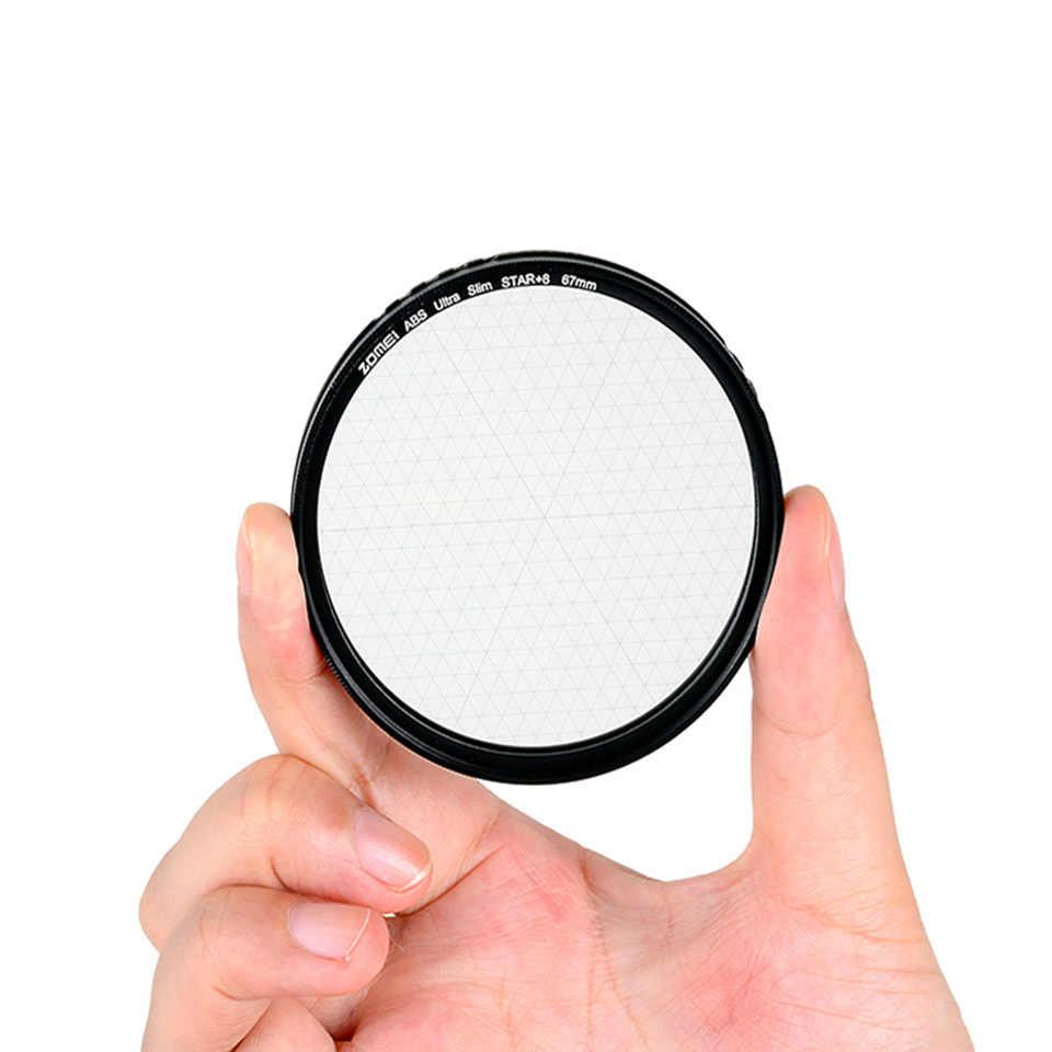 Filtre étoile en verre optique Zomei ABS filtre étoile 4/6/8 points Filtro Slim 49/52/58/67/72/77/82mm pour Canon Nikon Sony
