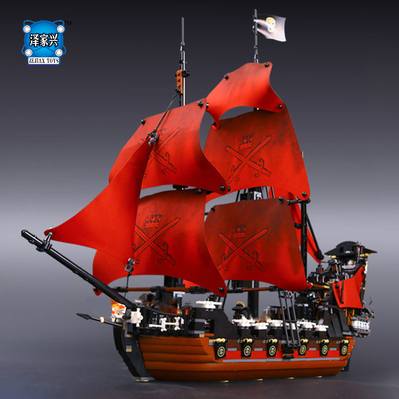 1151pcs Queen Anne's Revenge Pirates of The Caribbean Building Blocks Set Figures Toys Compatible with Lepins Educational Gifts kazi 608pcs pirates armada flagship building blocks brinquedos caribbean warship sets the black pearl compatible with bricks