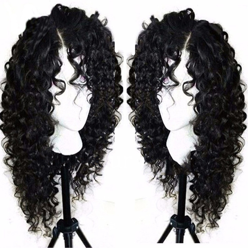 1pc Small Curly Female Front Lace Black Wrapped Tube Hand Roll Wave Curly Hair Twisted Chemical Fiber Hair Wig Headgear G0504