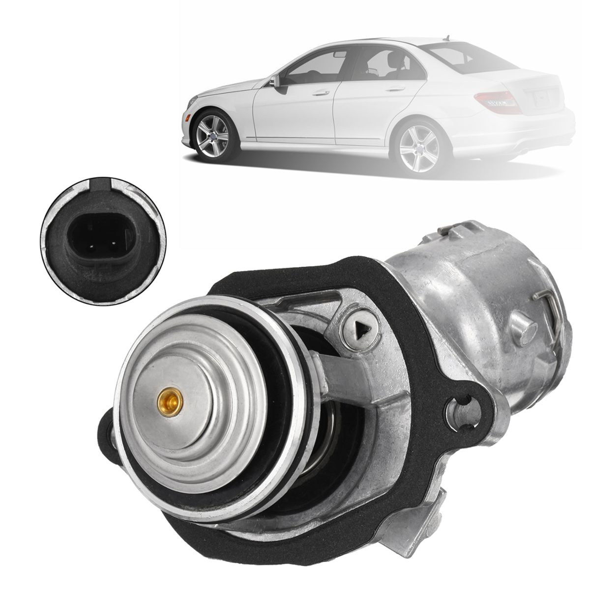 2722000115 272 200 01 15 engine coolant thermostat with sensor Mercedes Benz Engine Sludge 2722000115 272 200 01 15 engine coolant thermostat with sensor gasket for mercedes benz slk350 glk350 slk300 slk280 clk350