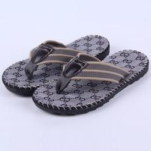 Men's Flip Flops Beach Sandals Shoes Summer Fashion Design Flip Slippers Chinelo Masculino Slip On Shoes Men Flats NSX33