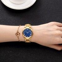CRRJU Luxury Brand Quartz Watch Women Golden Waterproof Watch Retro Roman Numerals Ladies Dress Watch Relogio