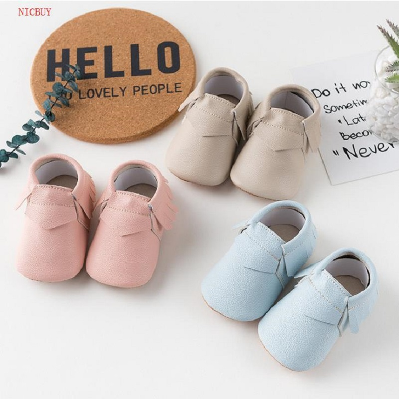 NICBUY Free Shipping Tassels PU Leather Baby Shoes Moccasins Newborn Shoes Soft Infants Crib Shoes Sneakers First Walker