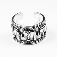 925 Sterling Silver Thailand Elephant Ring