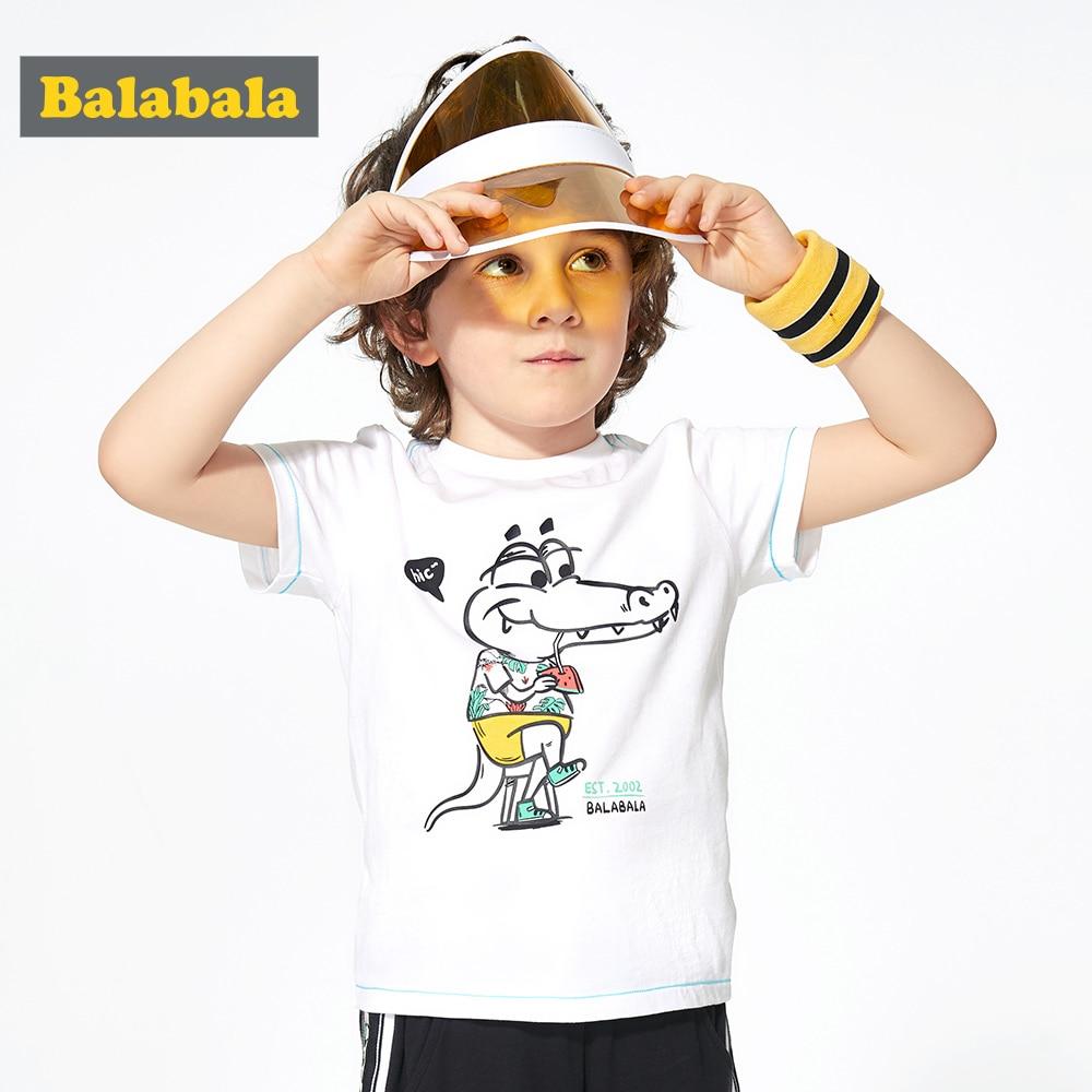 T-Shirt Baby Balabalachildren Clothing Bottoming Printing Short-Sleeve Summer New Fashion