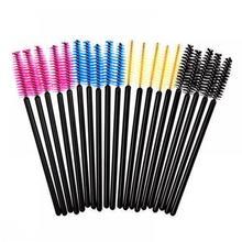 hot deal buy 50pcs eyelash brushes makeup brushes disposable mascara wands applicator spoolers eye lashes cosmetic brush makeup tools
