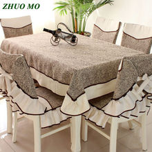 ZHUO MO 2019 Fashion Rectangular table cloth and chair covers dining for coffee home Decoration Table Covers