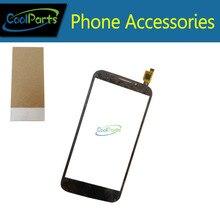 Черный Цвет для Alcatel One Touch POP S7 7045 OT7045 7045Y Сенсорный экран Внешний стекло ленты клей 1 шт./лот
