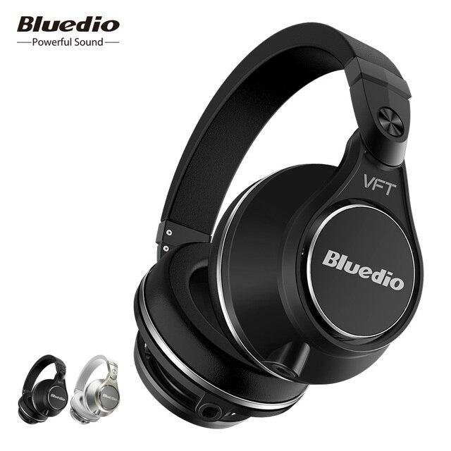 Bluedio UFO PLUS haut de gamme sans fil Bluetooth casque PPS12 pilotes bandeau avec microphone pour téléphones