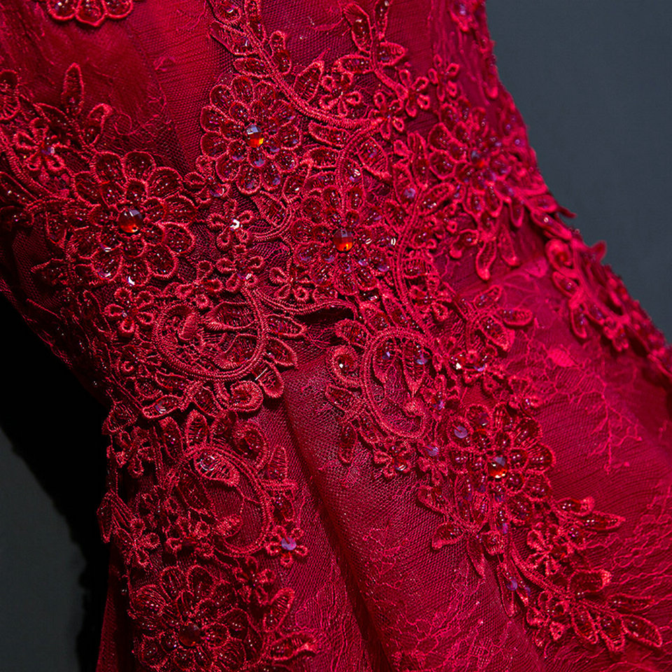 Sexy Black Prom Dresses Short 2018 Burgundy Prom Dress V Neck Appliques Beading Lace Up Cheap Women Cocktail Party Gown Casual 7