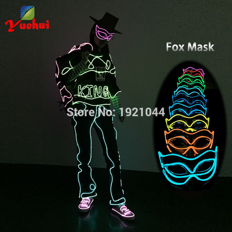 2016 Hot Sales Party Glowing Sound Active Fox Masks Christmas Stage ...