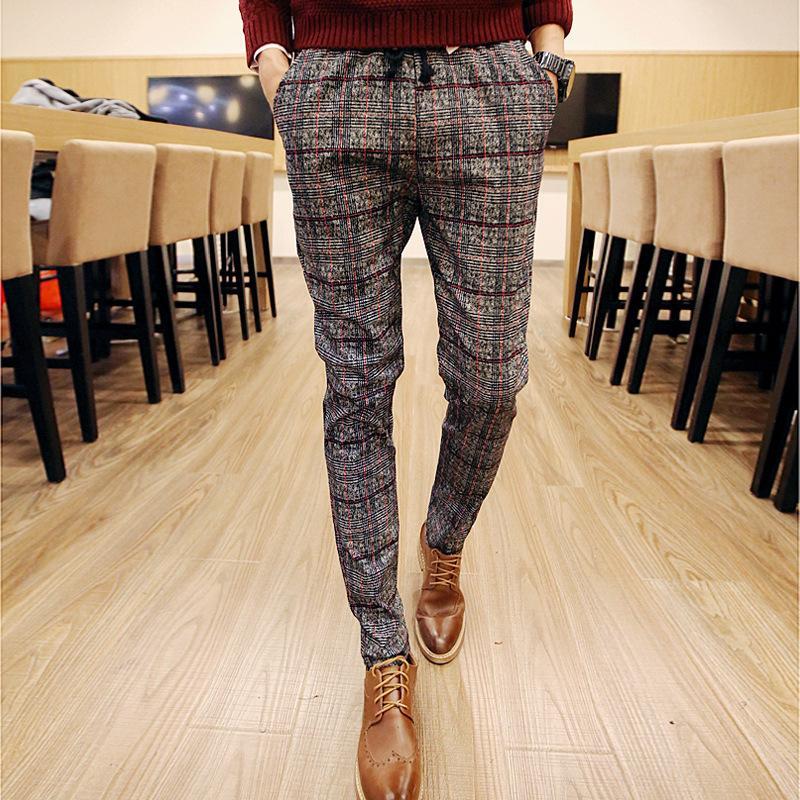 pantalons carreaux hommes promotion achetez des pantalons carreaux hommes promotionnels sur. Black Bedroom Furniture Sets. Home Design Ideas