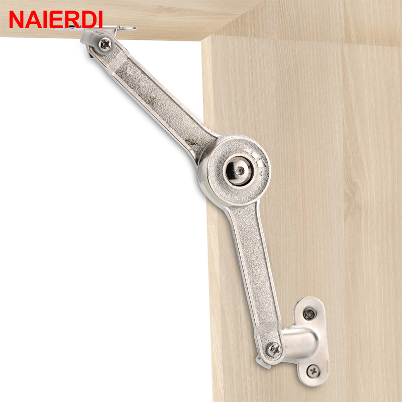 NAIERDI Randomly Stop Adjustable Hinge Cabinet Cupboard Door Furniture Lift Up Flap Stay Support Hydraulic Hinges Hardware brand naierdi 90 degree corner fold cabinet door hinges 90 angle hinge hardware for home kitchen bathroom cupboard with screws