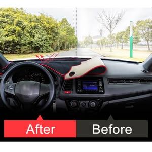 Image 3 - עבור הונדה HRV HR V Vezel 2014 2015 2016 2017 2018 2019 LHD/RHD רכב לוח מחוונים כיסוי מחצלות רפידות אנטי Uv מקרה שטיחים אבזרים
