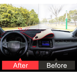 Image 3 - Коврики для приборной панели автомобиля для Honda HRV, коврики, чехол с защитой от УФ лучей, аксессуары для ковров, 2014, 2015, 2016, 2017, 2018, 2019, LHD/RHD