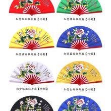 Бамбук пион ушу боевые искусства вентиляторы Tai Chi Kung fu вентилятор красный/золотой/черный/зеленый/синий/серебристый/желтый
