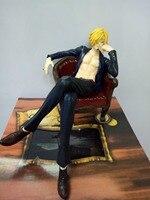 Darmowa Wysyłka One Piece Action Figures POP Sanji Sanji PCV Klocki 140mm One Piece Anime Juguetes KB0755