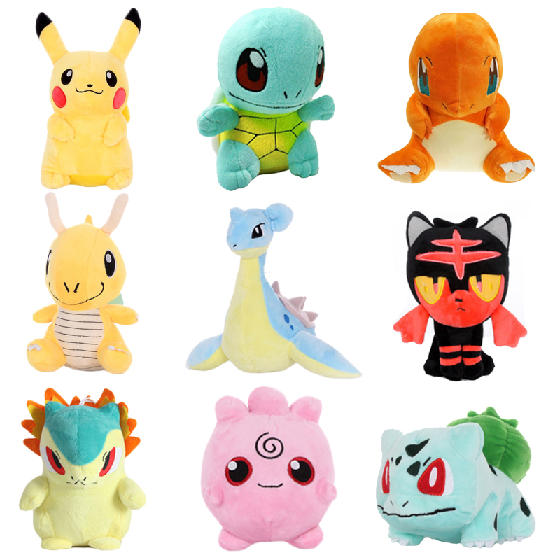 Pikachu Bulbasaur Squirtle Charmander Stuffed Toy Collection Hobby Doll Anime Peripheral Plush Doll Children's Day Event Gift