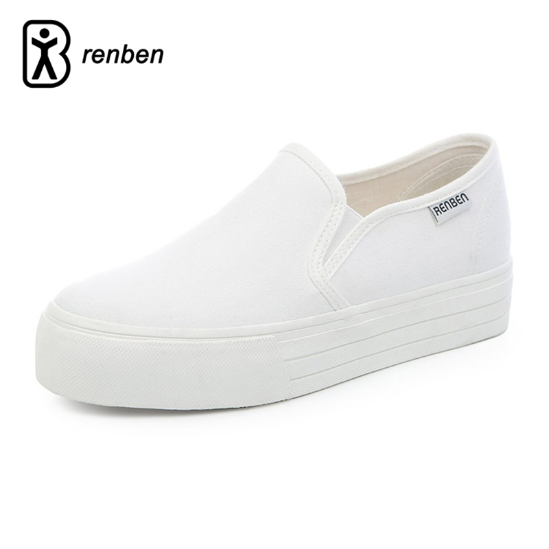 RenBen 2017 Canvas Platform Casual Women Shoes Fashion Wedge Pump Female Shoes Breathable Durable Woman Footwear Zapatos mujer
