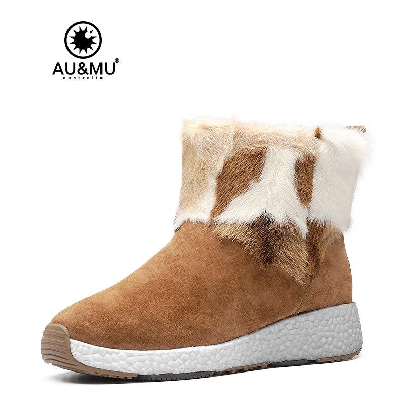 2017 AUMU Australia Classic Splicing Sheepskin Fur Winter Boots UG NY108 2017 aumu australia women classic short sheepskin elastic suede winter snow boots ug ny082